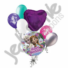 7 pc Disney Frozen Elsa Anna Happy Birthday Balloon Bouquet Decoration Princess