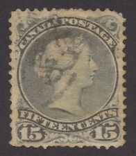 Canada 1868 Large Queen 15c greenish grey Perf 11.5 x 12 #30a used
