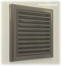 "Bathroom Kitchen Extractor Fan Wall Grille 4"" 100mm Ducting Fixed Louvre BROWN"