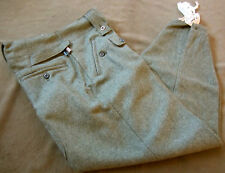 WWII GERMAN HEER WAFFEN M43 WOOL COMBAT FIELD GREY TROUSERS- SIZE XLARGE