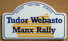 1988 Tudor Webasto Manx Rally Retro Motorsport Sticker / Decal