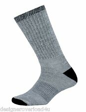 2 Pair Men's Gray Thermal Sport Warm Merino Wool Hiking Camp Dress Sock Sz 10-13