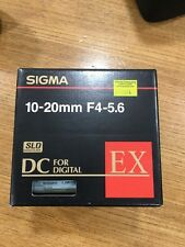 Sigma 10-20mm F4-5.6 Canon Fit