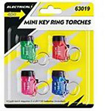 Mini Keyring Torches 4pk Light Lanterns Flashlight Prank Noverlty Gift Car Key