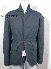 NWT JACK SPADE Griffith Cotton Herringbone Tweed Down Blazer Blue Gray size XXL