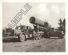 MACK LJ Diesel Loading Conc Pressure Pipe 8x10 PHOTO, V. VAN DYKE, Seattle, WA