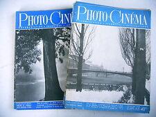 PHOTO CINE REVUE lot 12 revues 1949 année complète