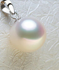 Hot 16mm Beautiful White shell Pearl Pendant Necklace 17""