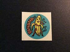 Vintage 80s Matte Gordys Scratch and Sniff Sticker RARE - Banana