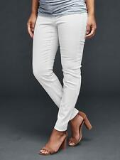 Gap Women's Maternity Authentic 1969 Inset Panel True Skinny White Jeans 33r 16