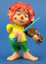 Der kleine Kobold Pumuckl - lustiger Musikant - Geige dunkelbraun - Ü-Ei Figur 3