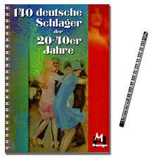 140 Deutsche Schlager der 20er-40er Jahre - Verlag Hildner - 9783932839238