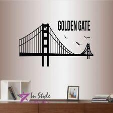 Wall Vinyl Decal Golden Gate Bridge USA San Francisco Ca Art Sticker 130