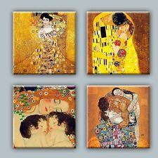 Set of 4 ceramic tile coaster drink, Gustav Klimt Illustration #1