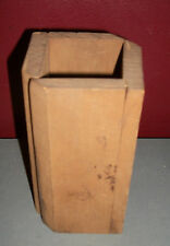 Antique Wood Butter or Cheese Mold Hinged Square
