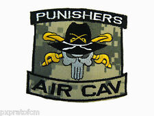 Punishers AIR CAV Patch SoftAir Toppa Militare Soft Air Ricamata con Velcro