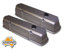 Holden V8 253 308 4.2 5L tall alloy rocker covers Australian made raw finish