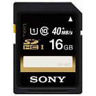 New SONY 16GB SD Class 10 SDHC SDXC 40MB/s UHS-1 HD Flash Memory Card SF-16UY