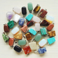 Wholesale Assorted mixed Natural Stone Irregular charm Pendant for jewelry 30pcs
