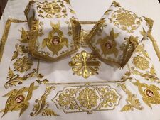 Chalice Covers Veils Eucharist Altar Priest Orthodox Byzantine Embroidered SET
