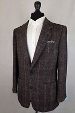 Men's Check Saint John Harris Tweed Giacca Blazer 38r cc4631