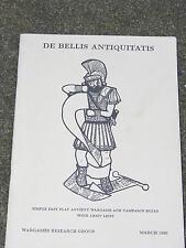 WAR GAMES RULES , DE BELLIS ANTIQUITTATIS, MARCH 1990