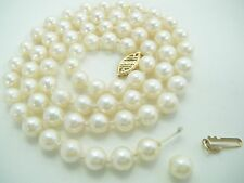 "VINTAGE  5.5 MM CULTURED PEARL 18 1/2"" NECKLACE 14 K CLASP  NEEDS RE-STRINGING"