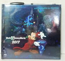 Disney Parks Mickey Mouse Sorcerer 2017 Autograph & Photo Book with Pin