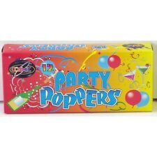 Unisex Adults Fancy Novelty Party Celebration Poppers Pack Of 12 Assorted Colour