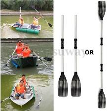 New 2Pcs 125cm Aluminum Detachable Afloat Kayak Oars Boat Rafting Canoe Paddle