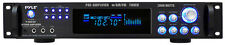 Pyle P3001AT 3000 Watts Hybrid Pre-Amplifier w/AM FM Tuner DJ Pro Audio