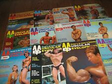 Lot Of 12 Muscular Development Bodybuilding Magazines/1972 COMPLETE YEAR