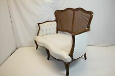 Art Nouveau French Louis XV Settee Loveseat w/ Caned Back, Ready for your Fabric