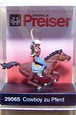 HO Preiser 29065 COWBOY on HORSE: 1/87 scale Figures