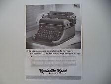 advertising Pubblicità 1944 MACCHINA PER SCRIVERE REMINGTON RAND 17 SEVENTEEN