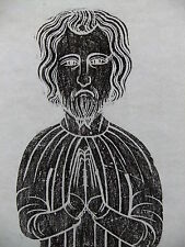 Brass rubbing HELLESDON, NORFOLK, RICHARD & BEATRICE de HEYLESDONE c 1370 ..36/2