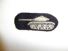 b1987 RVN Vietnam Army Armored Forces Beret badge silver bullion EM IR8C