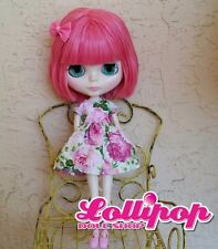 Factory Type Neo Blythe Doll Dark Pink Hair  - Includes Outfit