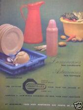 PUBLICITÉ 1958 GROSFILLEX LUMINEUSES LES COULEURS ASTUCIEUSES FORME- ADVERTISING