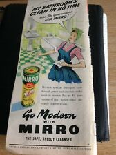 L4-2  1940s Advert Folded Go Modern With Mirro Cleanser
