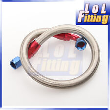 """24"""" 10AN SS Braided Racing Performance Oil Fuel Coolant Line Hose Assembly"""