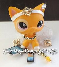 Littlest Pet Shop clothes accessories OUTFIT WHITE QUEEN GOLD SKIRT (NO CAT)