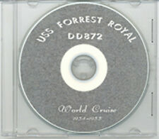 USS Forrest Royal DD 872 1954 55 Cruise Book on CD RARE