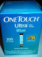 100 ONE TOUCH ULTRA BLUE DIABETIC TEST STRIPS EXP. 1/2018 NEW SEALED MINT BOX