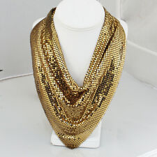 Whiting & Davis Gold Tone Mesh Necklace, Vintage Scarf