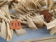 PUMPKIN GARLAND,  BURLAP GARLAND, PUMPKIN, FALL GARLAND, RUSTIC DECOR, BURLAP