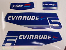 Evinrude Outboard 5/6hp Decal Set 1979
