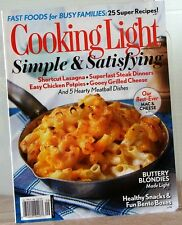 COOKING LIGHT Magazine SIMPLE &SATISFYING Fast Food-BUSY Family BEST MAC &CHEESE