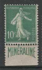 "FRANCE N° 188 A "" SEMEUSE 10c  BANDE PUBLICITAIRE  MINERALINE "" NEUF x TB N710"