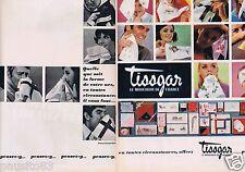 Publicité Advertising 096 1967 Tissgar le mouchoir de France  (2 pages)